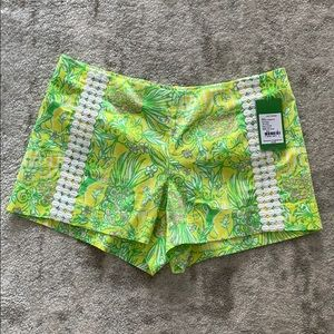 NWT Lilly Pulitzer Liza short crazy cat house 6